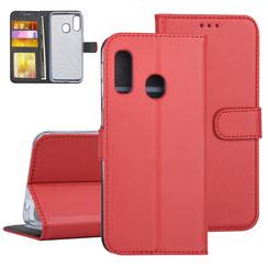 Samsung Galaxy A40 Rood Booktype hoesje Pasjeshouder - Kunstleer
