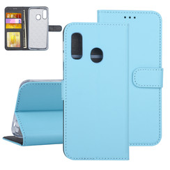 Samsung Galaxy A40 Blauw Booktype hoesje Pasjeshouder - Kunstleer
