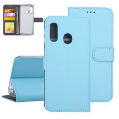 Samsung Galaxy A40 Book-Case hul Blau Kartenhalter - Kunstleer