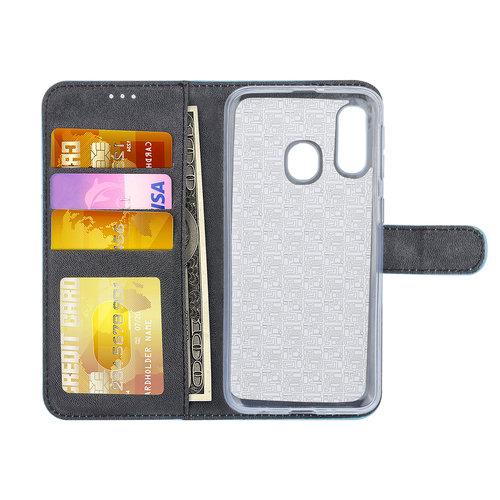 Andere merken Samsung Galaxy A40 Book-Case hul Blau Kartenhalter - Kunstleer