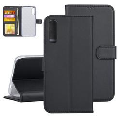 Samsung Galaxy A50 Book-Case hul Schwarz Kartenhalter - Kunstleer