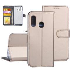 Samsung Galaxy A40 Book-Case hul Gold Kartenhalter - Kunstleer