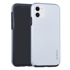 Apple iPhone 11 Zilver Backcover hoesje Soft Touch - Kunststof
