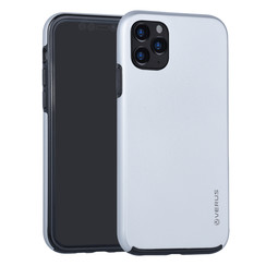Apple iPhone 11 Pro Max Zilver Backcover hoesje Soft Touch - Kunststof