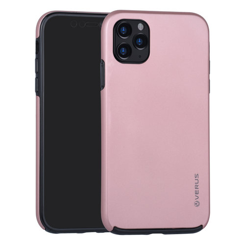 Andere merken Apple iPhone 11 Pro Max Back cover coque Soft Touch Rose Or