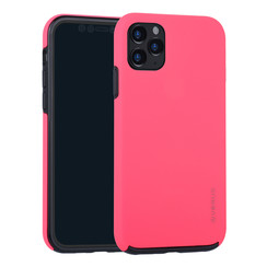 Apple iPhone 11 Pro Max Hot Pink Backcover hoesje Soft Touch - Kunststof