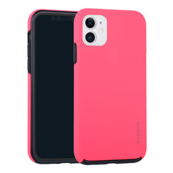 Apple iPhone 11 Hot Pink Backcover hoesje Soft Touch - Kunststof
