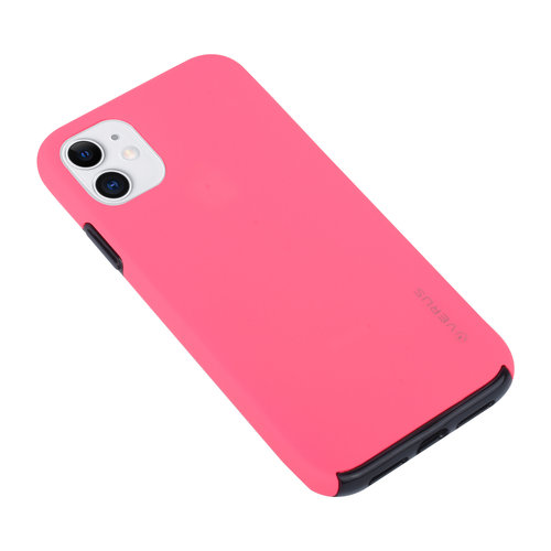 Andere merken Apple iPhone 11 Back-Cover hul Hot Pink Soft Touch - Kunststof