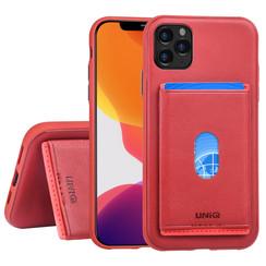 Apple iPhone 11 Pro Back-Cover hul Rot Kartenhalter - Kunstleer