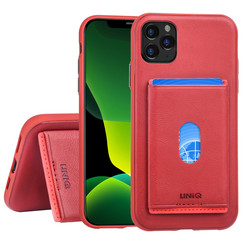 Apple iPhone 11 Pro Max Back-Cover hul Rot Kartenhalter - Kunstleer