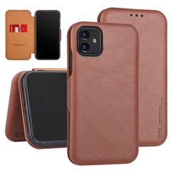 Apple iPhone 11 Book type case Card holder Brown for iPhone 11