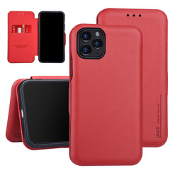 Apple iPhone 11 Pro Book-Case hul Rot Kartenhalter - Kunstleer