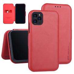 Apple iPhone 11 Pro Max Book-Case hul Rot Kartenhalter - Kunstleer