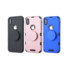 Apple iPhone X/Xs Blauw Backcover hoesje Soft Touch