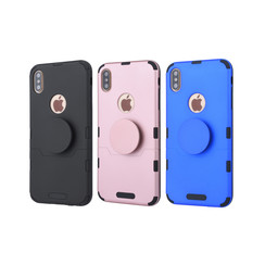 Apple iPhone Xs Max Blauw Backcover hoesje Soft Touch