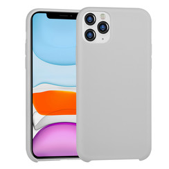 Apple iPhone 11 Pro Max Grijs Backcover hoesje Soft Touch - TPU