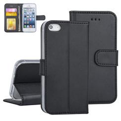 Apple iPhone 5G/SE Zwart Booktype hoesje Pasjeshouder