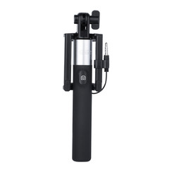 Earldom Black Selfie Stick with 3.5 jack - 100 cm extendable