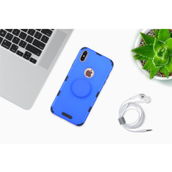 Samsung Galaxy A30 Blauw Backcover hoesje Soft Touch