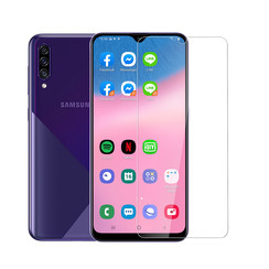 Samsung Galaxy A30S Transparant Screenprotector Genuine leather - Glas