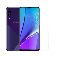 Samsung Galaxy A50S Uniq accessories Screenprotector Genuine Leather Transparent