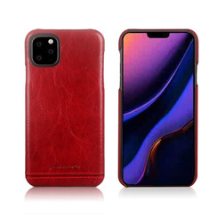 Apple iPhone 11 Pro Pierre Cardin Back-Cover hul Rot Genuine Leather - Echt Leer