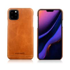 Pierre Cardin Apple iPhone 11 Pro Bruin Backcover hoesje Genuine leather