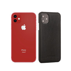 Pierre Cardin Apple iPhone 11 Zwart Backcover hoesje Genuine leather