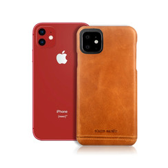 Pierre Cardin Apple iPhone 11 Bruin Backcover hoesje Genuine leather