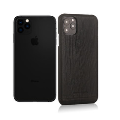 Pierre Cardin Apple iPhone 11 Pro Max Noir Back cover coque Genuine Leather