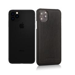 Pierre Cardin Apple iPhone 11 Pro Max Zwart Backcover hoesje Genuine leather