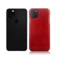 Pierre Cardin Apple iPhone 11 Pro Max Rood Backcover hoesje Genuine leather
