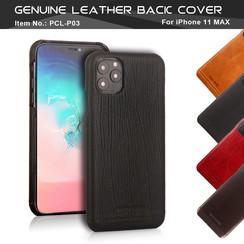 Pierre Cardin Apple iPhone 11 Pro Max Marron Back cover coque Genuine Leather