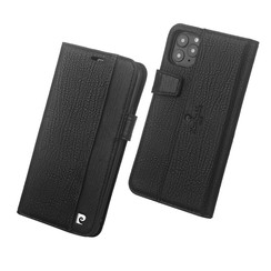 Apple iPhone 11 Pro Book type case Pierre Cardin Genuine Leather Black for iPhone 11 Pro