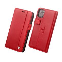 Pierre Cardin Apple iPhone 11 Pro Rood Booktype hoesje Genuine leather