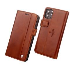 Pierre Cardin Apple iPhone 11 Pro Bruin Booktype hoesje Genuine leather