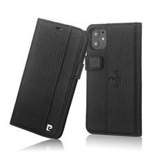 Pierre Cardin Apple iPhone 11 Zwart Booktype hoesje Genuine leather
