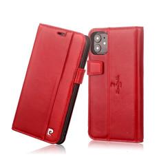 Pierre Cardin Apple iPhone 11 Rood Booktype hoesje Genuine leather
