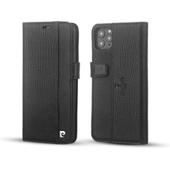 Apple iPhone 11 Pro Max Book type case Pierre Cardin Genuine Leather Black for iPhone 11 Pro Max