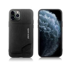 Pierre Cardin Apple iPhone 11 Pro Zwart Backcover hoesje Genuine leather