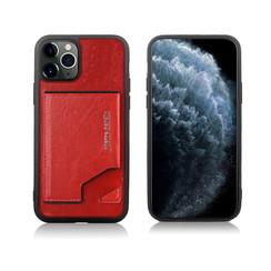 Pierre Cardin Apple iPhone 11 Pro Rood Backcover hoesje Genuine leather