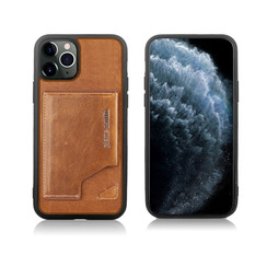 Apple iPhone 11 Pro Pierre Cardin Back-Cover hul Braun Genuine Leather - Echt Leer