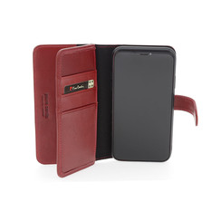 Apple iPhone 11 Pro Max Pierre Cardin Book-Case hul Rot Genuine Leather - Echt Leer