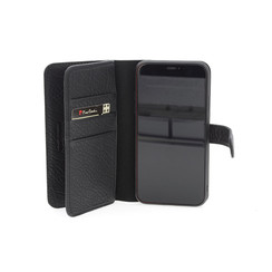 Apple iPhone 11 Pro Max Pierre Cardin Book-Case hul Schwarz Genuine Leather - Echt Leer