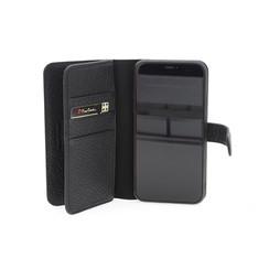 Apple iPhone 11 Pro Max Zwart Pierre Cardin Booktype hoesje Genuine leather - Echt Leer