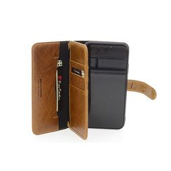 Apple iPhone 11 Pierre Cardin Book-Case hul Braun Genuine Leather - Echt Leer