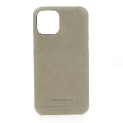 Pierre Cardin Apple iPhone 11 Gris Back cover coque Genuine Leather