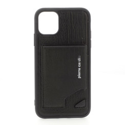 Pierre Cardin Apple iPhone 11 Pro Max Back-Cover hul Schwarz - Genuine Leather