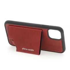 Apple iPhone 11 Pro Max Rood Pierre Cardin Backcover hoesje Genuine leather - Echt Leer