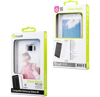 Muvit BackCover Voor Samsung Galaxy S6-Transparant